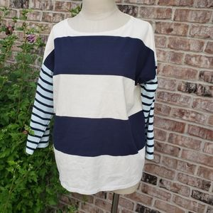 J. Crew Striped Long Sleeves Tee Size S